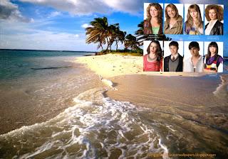 Fundo de tela dos Morangos com Açucar Jovens Actores da série juvenil em wallpaper Ilha Bonita