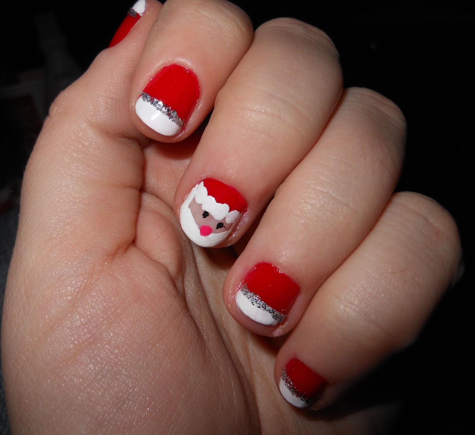 KalamityJane: Super Cute Santa Nails