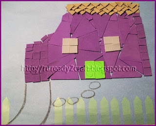 dollar store self-stick flag craft