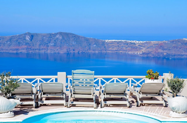 Santorini Greece by Monika Mukherjee
