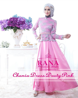 simple elegant gaun pesta muslimah