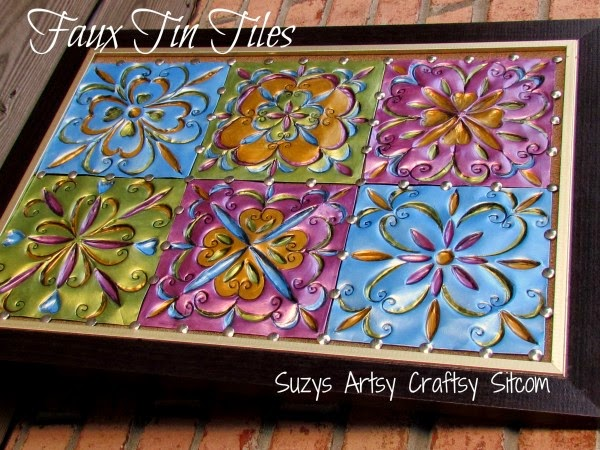 DIY Faux Tin Tiles from Disposable Cookie Sheets