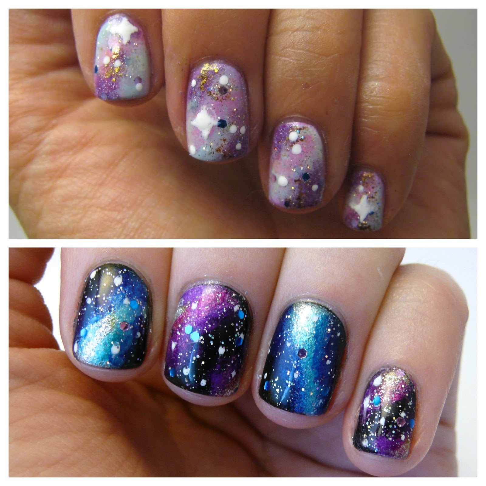 Casa de Polish: Nail Art Nail-Off: Galaxy Nails