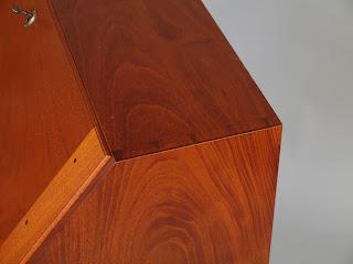 Mahogany Desk with Dovetailed construction