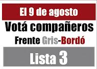 Documentos Frente Gris-Bordó (Lista 3) en las elecciones de delegados de la Línea Roca (09/08/11)