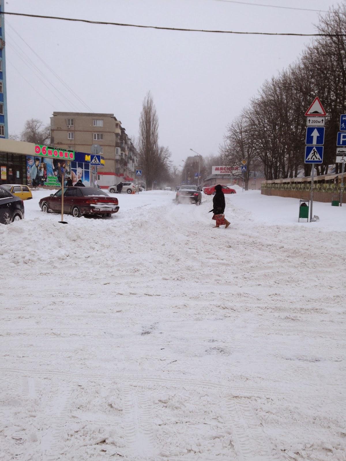 Снег в Ростове 2014