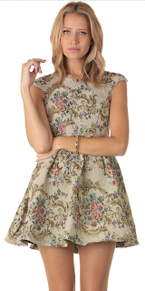 Skater Sleek Floral Dress