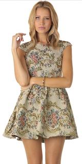 Skater Sleek Floral Dress