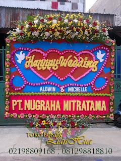 karangan bunga papan pernikahan toko bunga jakarta