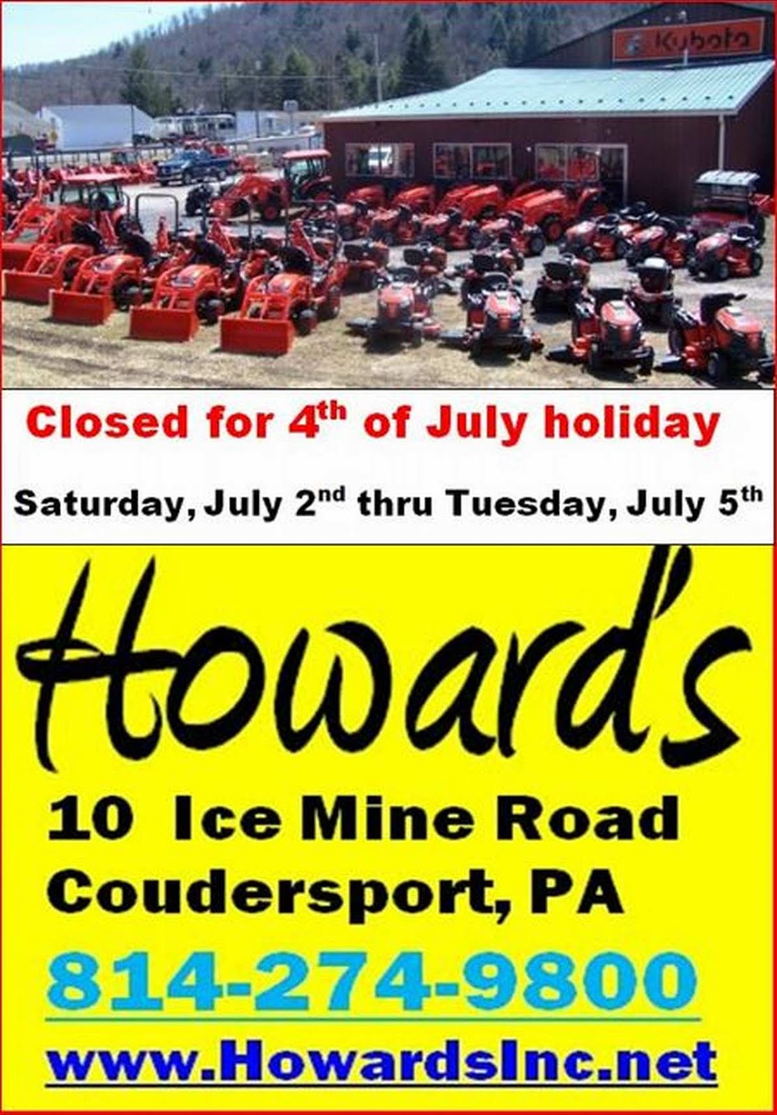 Howards, Inc., Coudersport
