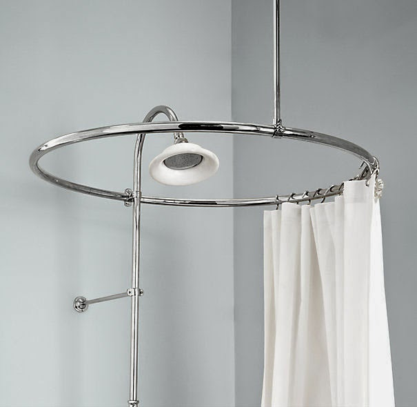 Curtain Ideas: Circular shower curtain rod for clawfoot tub