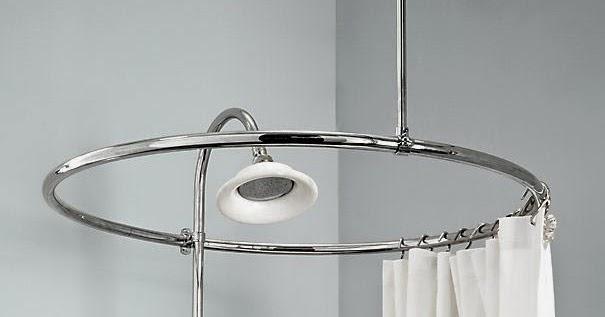 Curtain Ideas: Circular shower curtain rod for clawfoot tub
