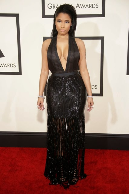 Nicki Minaj Tom Ford Long Black Dress