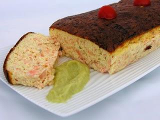 Clafoutis de saumon à la purée de poireaux