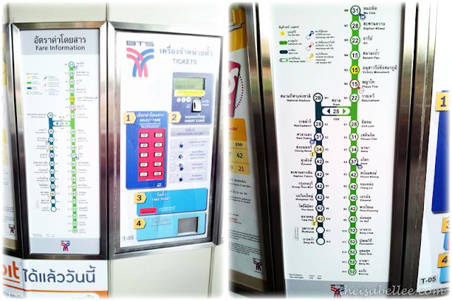 BTS Bangkok Thailand routes