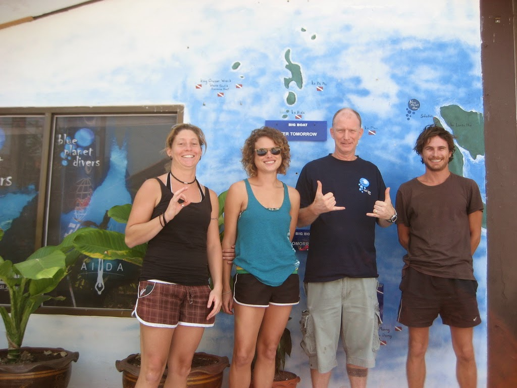 PADI IDC for January 2015 on Koh Lanta has kicked off