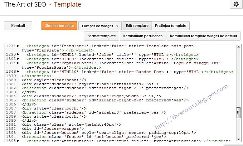 tampilan edit html terbaru