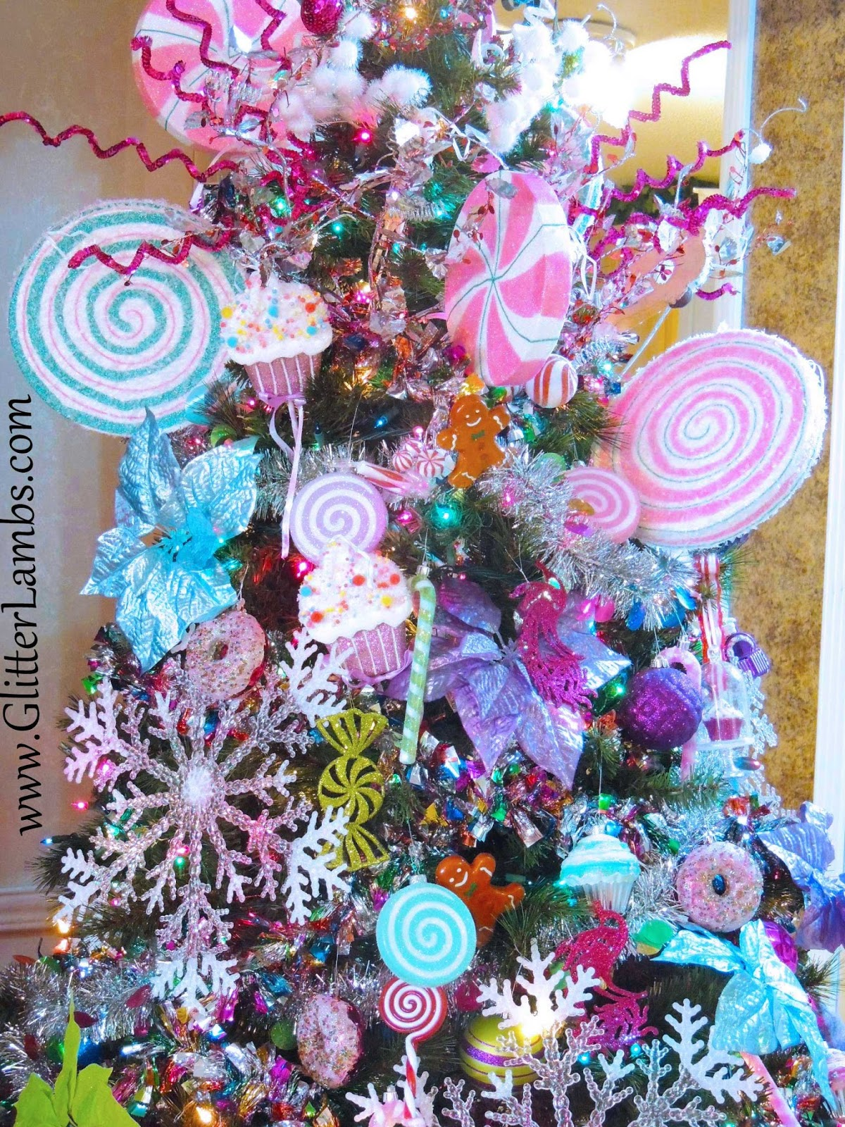 Christmas Tree Decorations Candy Lollipops
