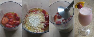 Zubereitung Erdbeer-Orange-Hirse-Buttermilch-Shake