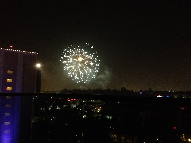 Disneyland Fireworks from The Disneyland Hotel