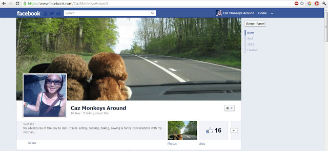 Caz Monkeys Around on Facebook