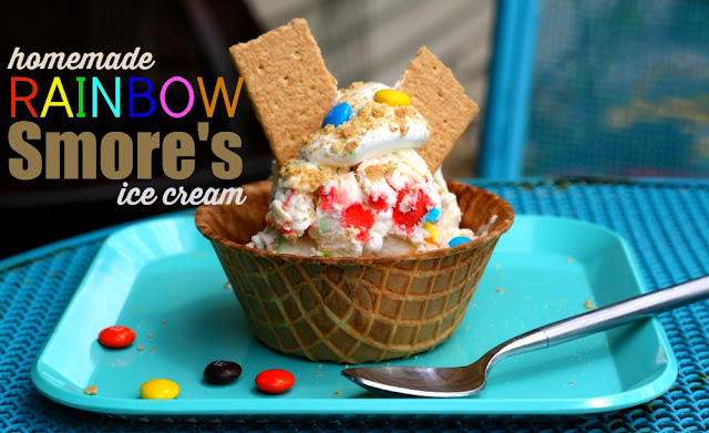 Homemade Rainbow Smore's Ice Cream #ad #ShareFunshine #cbias