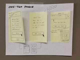 用三張便條紙畫出一個操作流程