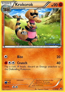 Krokorok Emerging Powers Pokemon Card