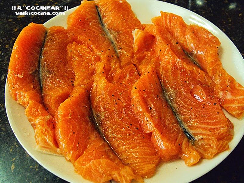 lomos de salmón: corte en mariposa