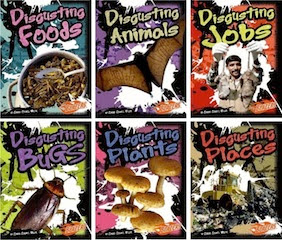 bookcovers for the THAT'S DISGUSTING series from Connie Colwell Miller