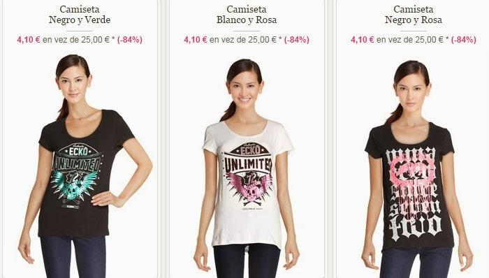 Tres de los modelos de camisetas para chica disponibles dentro