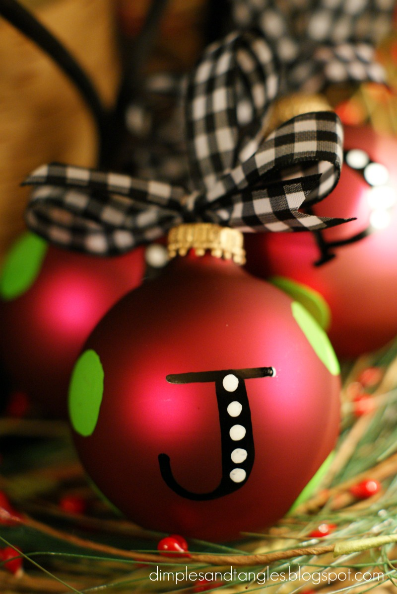 Personalized ornaments dimples and tangles