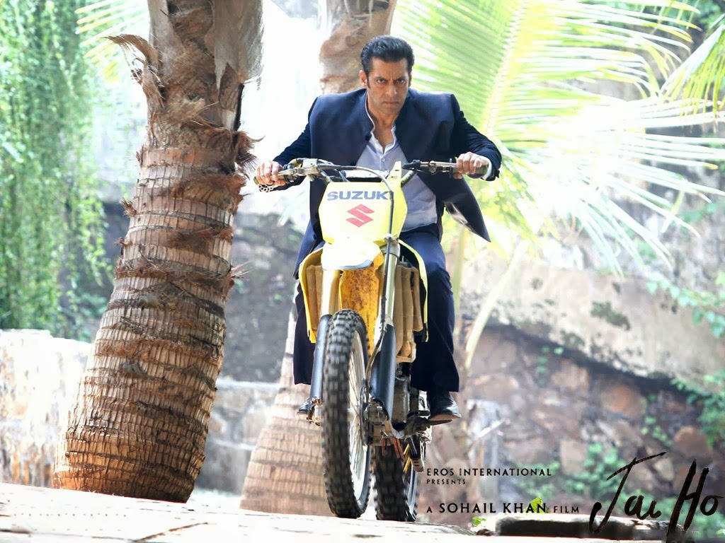 Salman Khan in Yellow Color Bike HD Images Wallpapers