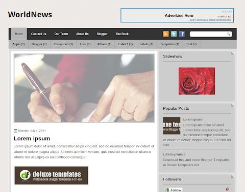 WorldNews Blogger Theme