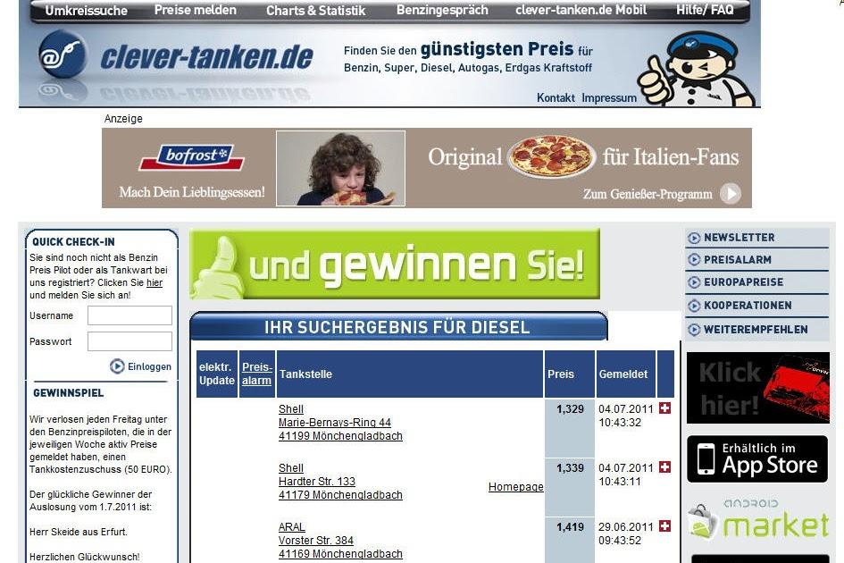 landkartenblog clever tanken aktuelle spritkosten in deutschland. Black Bedroom Furniture Sets. Home Design Ideas