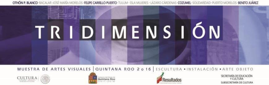 Muestra de Artes Visuales Quintana Roo 2016. Tridimensión