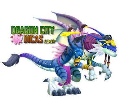 Dragão Alien Azul