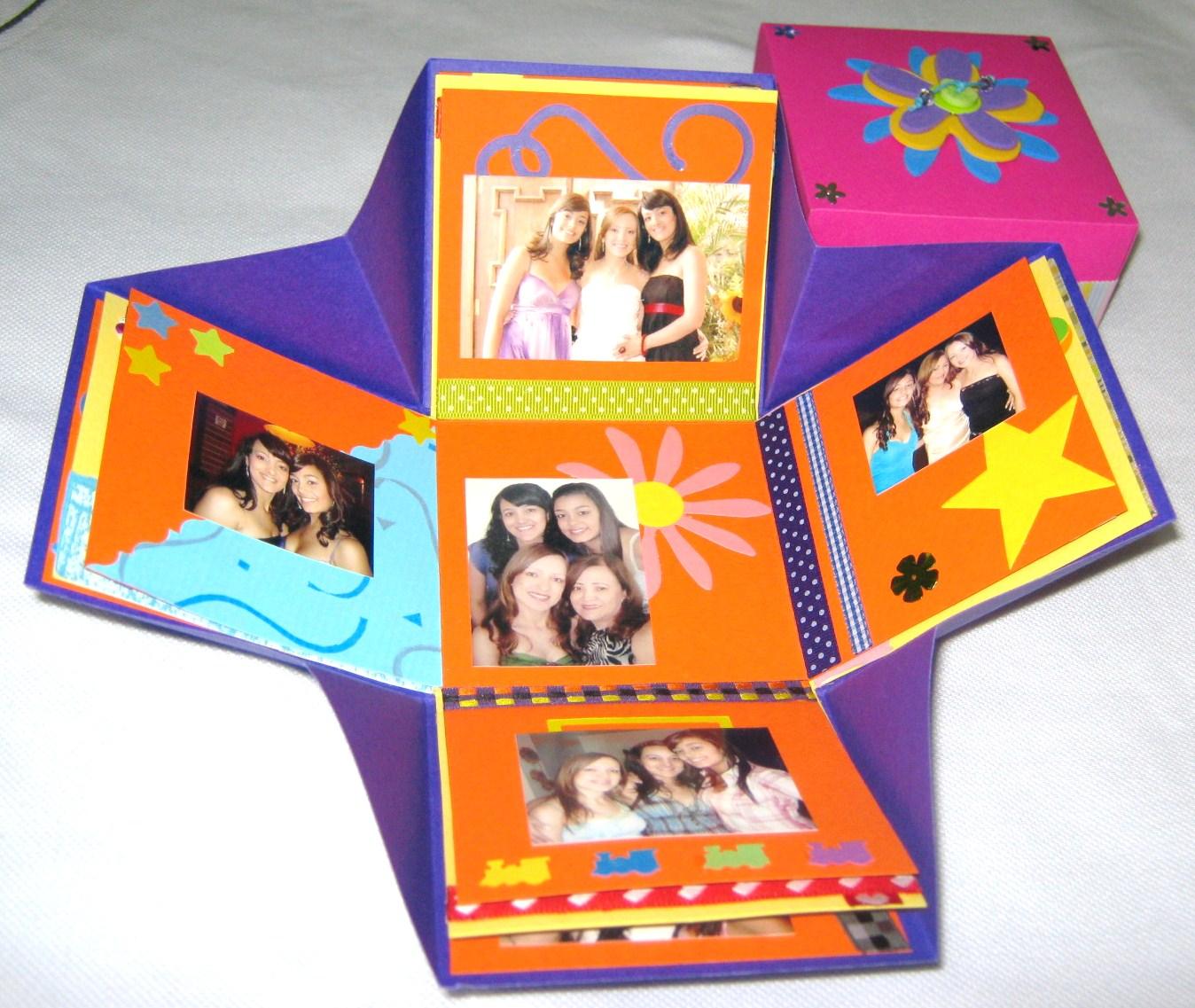 Mano arte lbum en forma de caja - Ideas para hacer un cabecero original ...