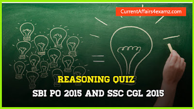 Reasoning Quiz for SBI PO and SSC