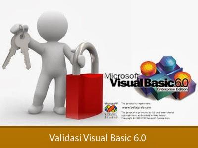 Membuat Validasi TextBox Agar Hanya Bisa Diisi Angka pada Visual Basic 6.0, Validasi untuk TexBox hanya bisa diisi Angka, Membuat TextBox Agar Hanya Bisa Diisi Angka