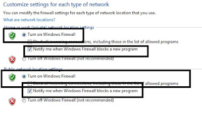 setting firewall windows
