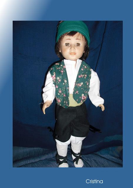 traje de jotero para muñeca