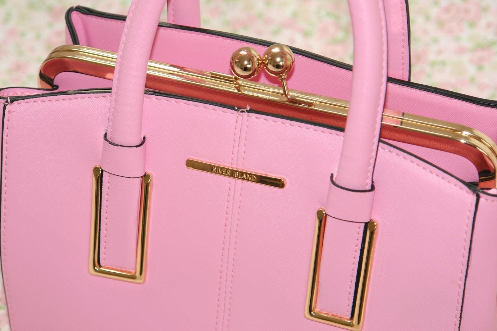 River Island Light Pink Mini Structured Tote Bag, review, summer, 2014, S/S, spring, bags, pink, River Island, pink handbag, fashion, blogger, UK blogger, top UK blogger