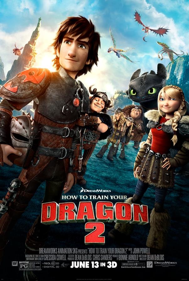 Póster Cómo entrenar a tu dragón 2