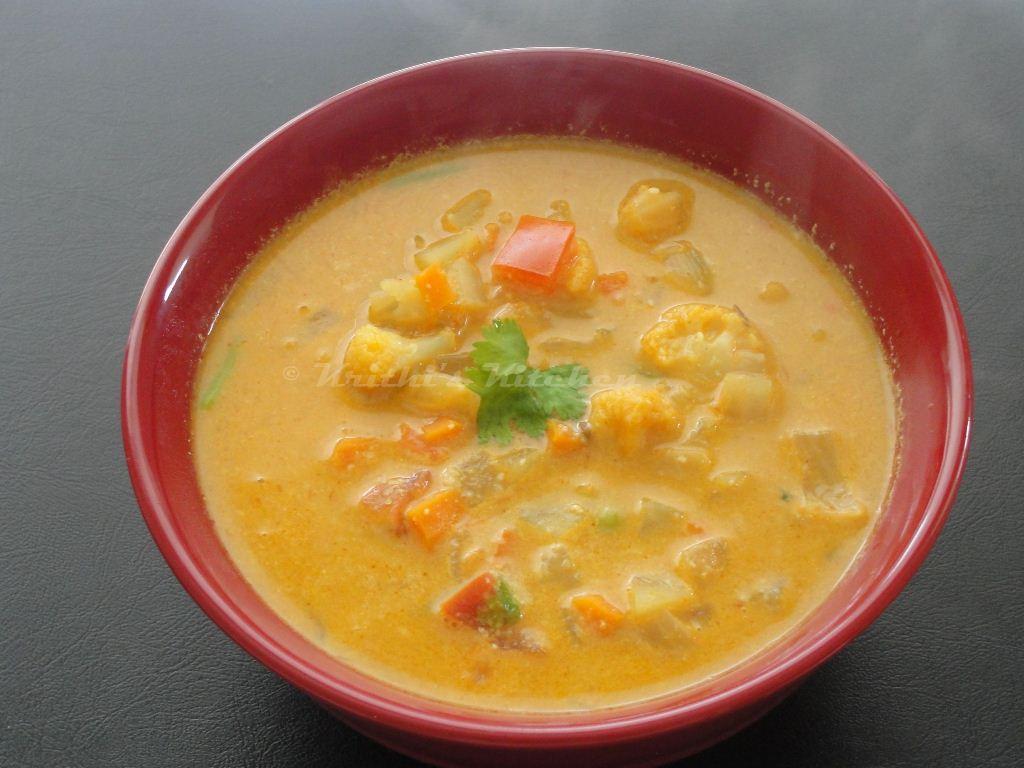 Vegetable Kurma For Chapathi Krithi's Kitchen: Vege...