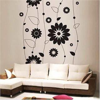 Adesivo de parede florais