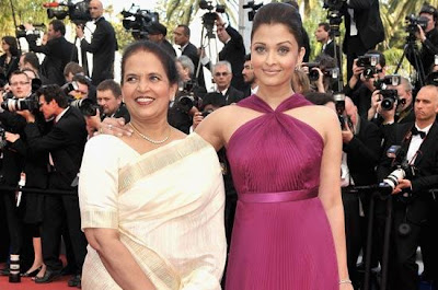 Aishwarya Rai and her mother Virnda Rai