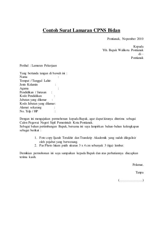 5 contoh surat lamaran kerja bidan ben jobs
