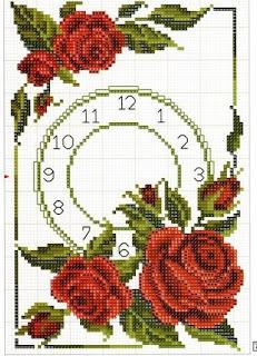 Gráficos para bordado de flores