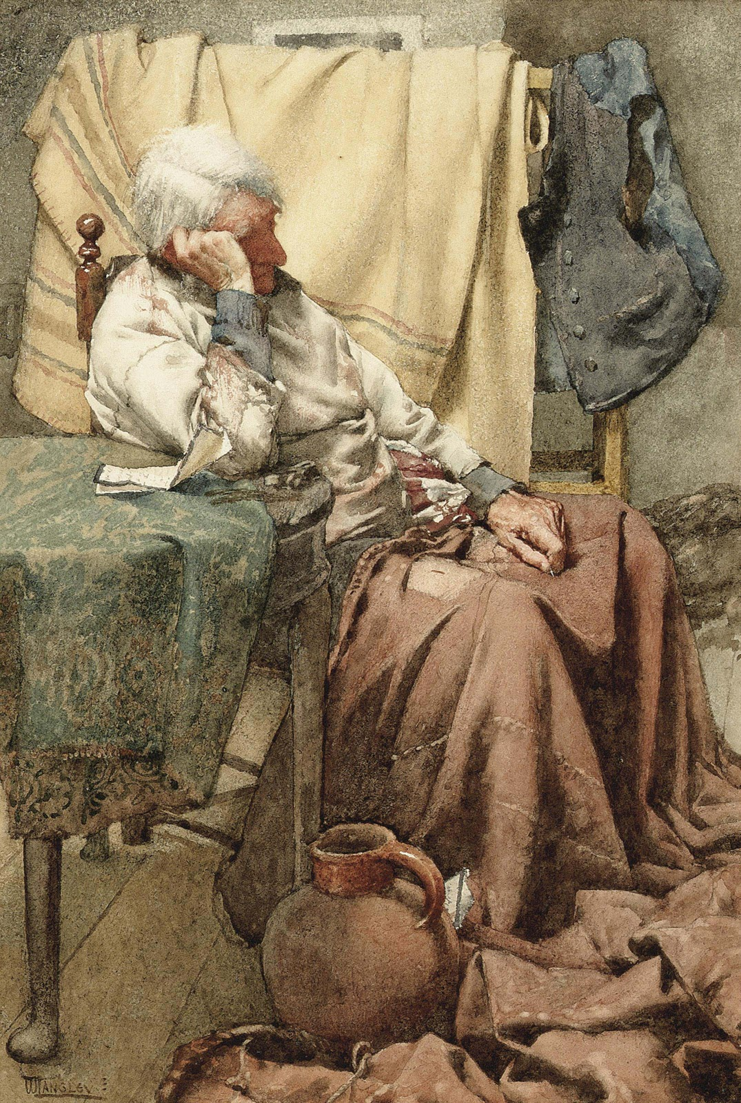 Walter Langley  ad news and Pensive thoughts